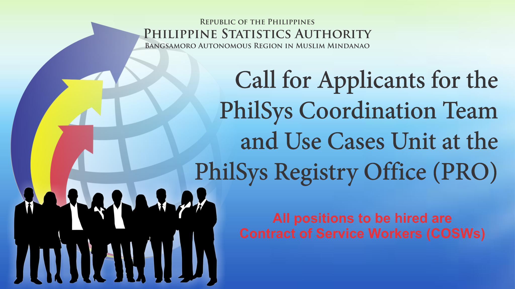 Call for Applicants for the PhilSys Coordination Team and Use Cases Unit at the PhilSys Registry Office (PRO)
